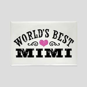 World's Best Mimi Rectangle Magnet