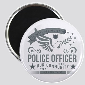 Community Police Officer Magnet