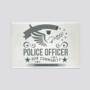 Community Police Officer Rectangle Magnet