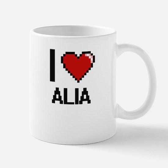 I Love Alia Mugs