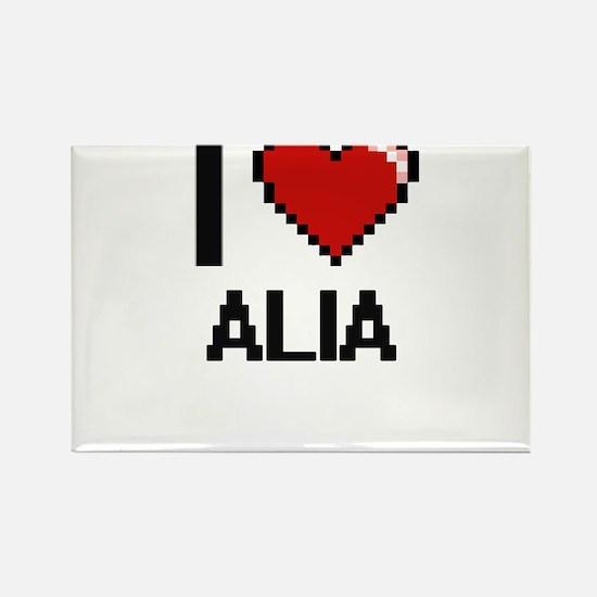 I Love Alia Magnets