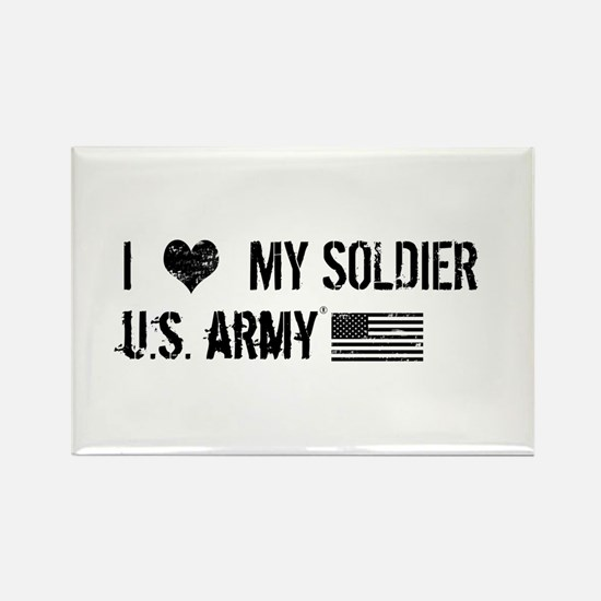 U.S. Army: I Love My Soldier Rectangle Magnet