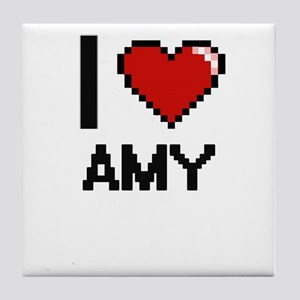 I Love Amy Tile Coaster