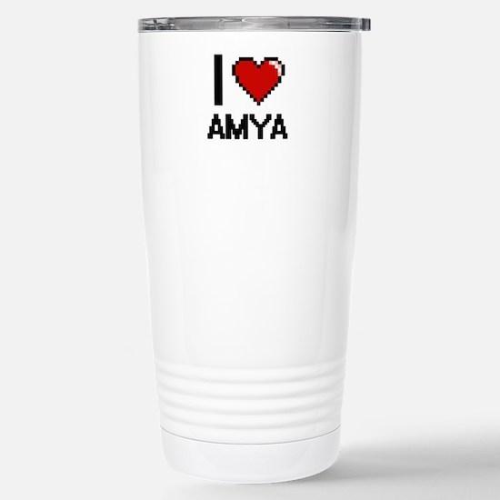 I Love Amya Stainless Steel Travel Mug