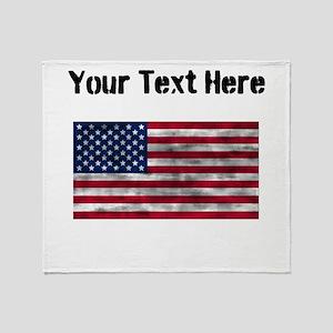Distressed United States Flag (Custom) Throw Blank