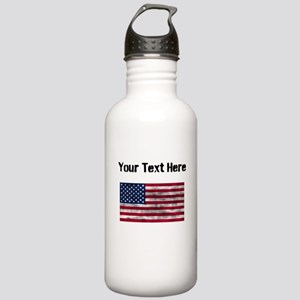 Distressed United States Flag (Custom) Water Bottl