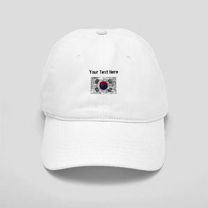 Distressed South Korea Flag (Custom) Baseball Cap