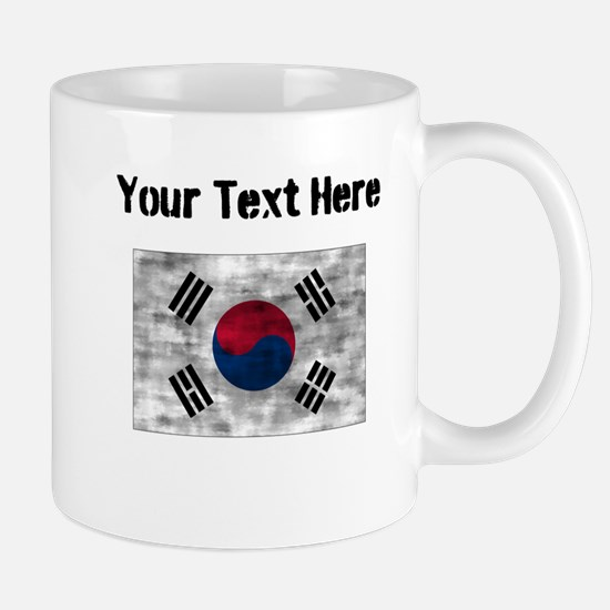 Distressed South Korea Flag (Custom) Mugs