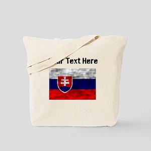 Distressed Slovakia Flag (Custom) Tote Bag