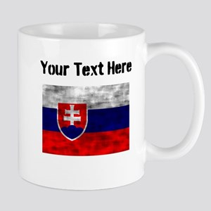 Distressed Slovakia Flag (Custom) Mugs
