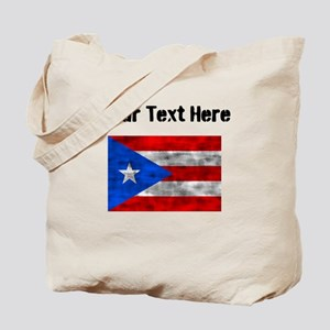 Distressed Puerto Rico Flag (Custom) Tote Bag