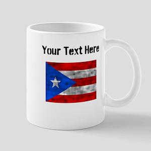 Distressed Puerto Rico Flag (Custom) Mugs