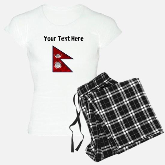 Distressed Nepal Flag (Custom) Pajamas