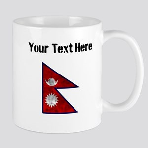 Distressed Nepal Flag (Custom) Mugs