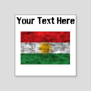 Distressed Kurdistan Flag (Custom) Sticker