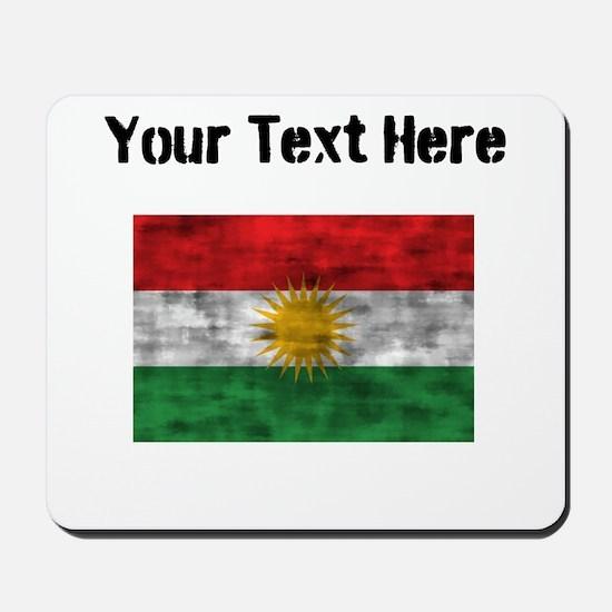 Distressed Kurdistan Flag (Custom) Mousepad