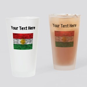 Distressed Kurdistan Flag (Custom) Drinking Glass