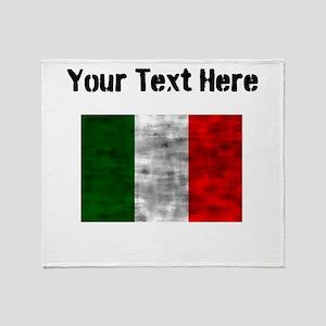 Distressed Italy Flag (Custom) Throw Blanket