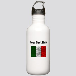 Distressed Italy Flag (Custom) Water Bottle