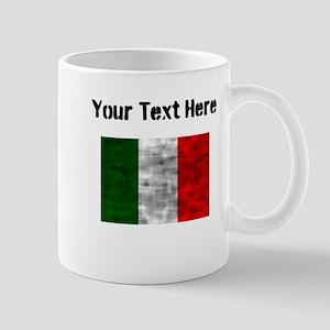Distressed Italy Flag (Custom) Mugs