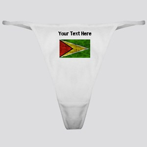 Distressed Guyana Flag (Custom) Classic Thong