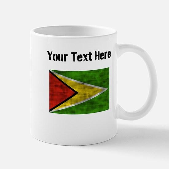 Distressed Guyana Flag (Custom) Mugs
