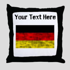 Distressed Germany Flag (Custom) Throw Pillow