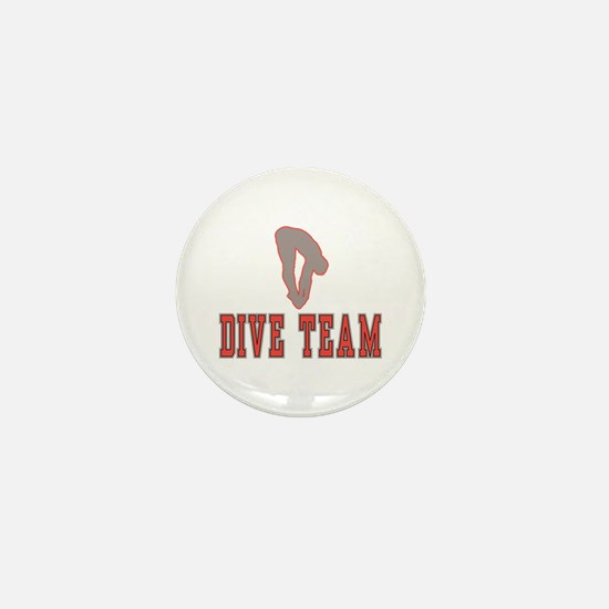 Red Dive Team Logo Mini Button