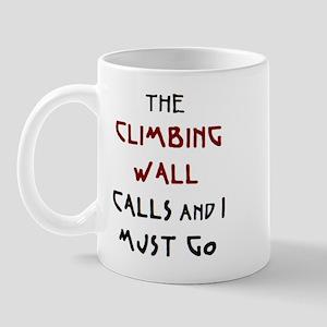 climbing wall calls Mug
