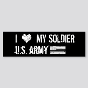 U.S. Army: I Love My Soldier Sticker (Bumper)