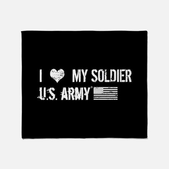 U.S. Army: I Love My Soldier Throw Blanket