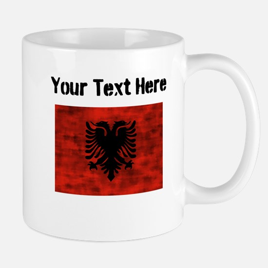 Distressed Albania Flag (Custom) Mugs