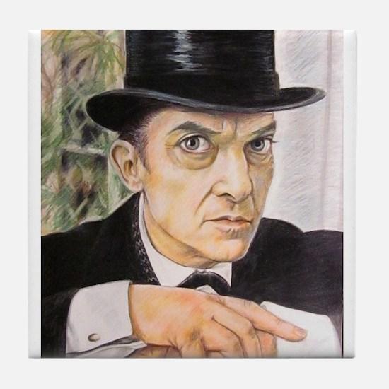 Jeremy Brett as Sherlock Holmes (1) Tile Coaster