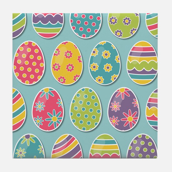 Easter Eggs Tile Coaster