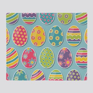 Easter Eggs Throw Blanket