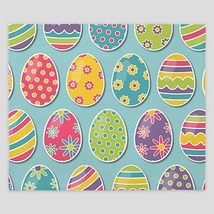 Easter Eggs King Duvet