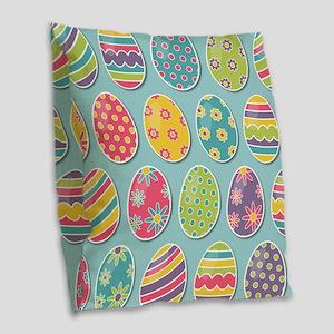 Easter Eggs Burlap Throw Pillow