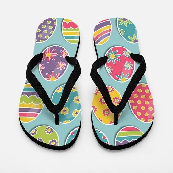 Easter Eggs Flip Flops