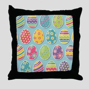 Easter Eggs Throw Pillow