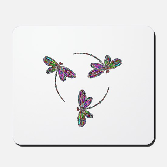 Dragonfly Neon Mousepad