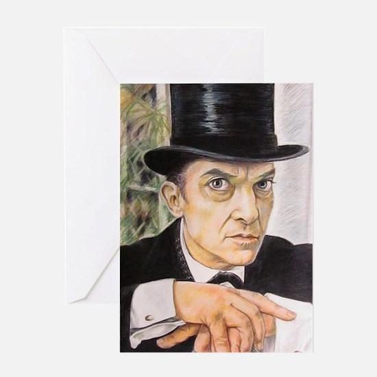 Jeremy Brett as Sherlock Holmes (1) Greeting Cards