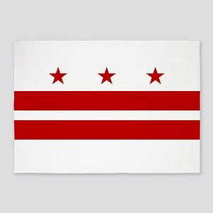 Washington D.C. Flag 5'x7'Area Rug