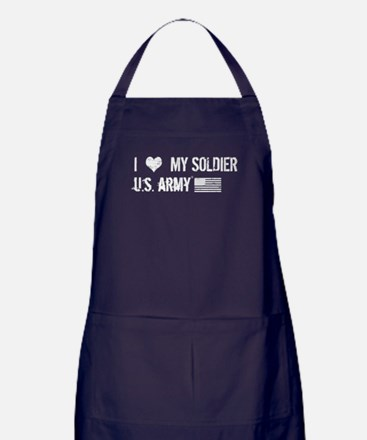 U.S. Army: I Love My Soldier Apron (dark)