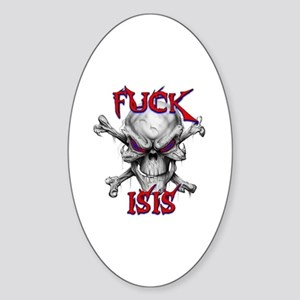 Fuck ISIS Sticker (Oval)