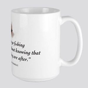 Why we fish Large Mug