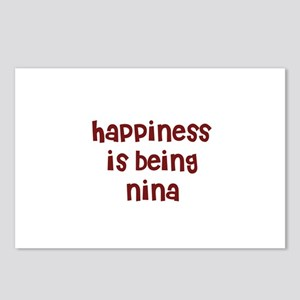 happiness is being Nina Postcards (Package of 8)