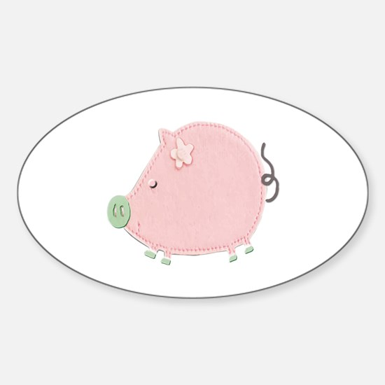 Cute Stics Sticker (Oval)