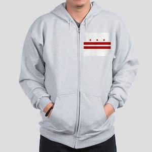 Washington D.C. Flag Zip Hoodie