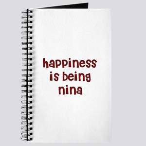 happiness is being Nina Journal