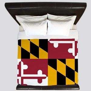 State Flag of Maryland King Duvet
